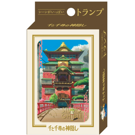 Ensky Studio Jeu de cartes - Studio Ghibli Le Voyage de Chihiro - Chihiro devant le Ryokan