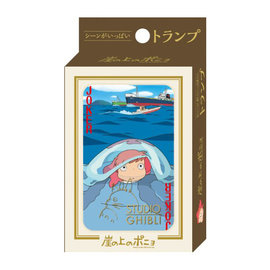Ensky Studio Jeu de cartes - Studio Ghibli Ponyo sur la Falaise - Ponyo devant la Mer