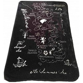"""Katalyst Licensing Blanket - Game of Thrones - Westeros Map Fleece Throw 50x60"""""""