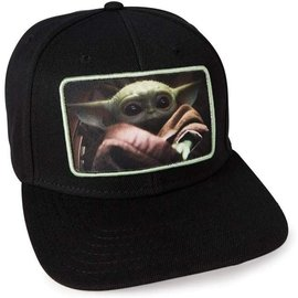 "Bioworld Baseball Cap - Star Wars The Mandalorian - The Child ""Baby Yoda"" Photo Black"