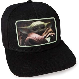 "Bioworld Casquette - Star Wars The Mandalorian - The Child ""Bébé Yoda"" Photo Noire"