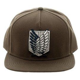 Bioworld Casquette - Attack On Titan - Emblème du Régiment des Scouts Verte Snapback