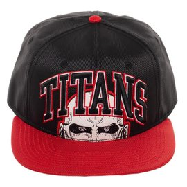 Bioworld Baseball Cap - Attack On Titan - Colossal Titan Red and Black Snapback