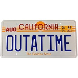 "Geek Gear Car Accessory - Back to the Future - Licence Plate Replica ""OUTATIME"""