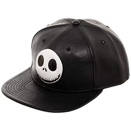 Bioworld Casquette - Disney The Nightmare Before Christmas - Jack Skellington 3D Faux Cuir Noir