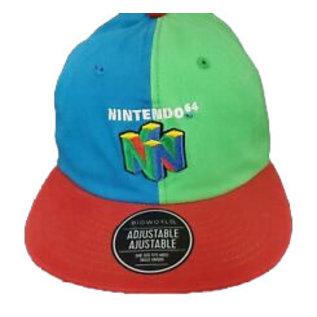 Bioworld Casquette - Nintendo - Logo Nintendo 64 Bleue, Verte et Rouge