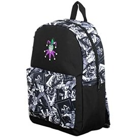 Bioworld Backpack - DC Comics - The Joker Black and White with Colored Logo