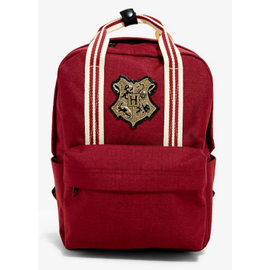 Bioworld Backpack - Harry Potter - Hogwarts Red with Striped Handles