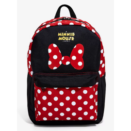 Bioworld Backpack - Disney - Minnie Mouse Red and White Dots Ribbons