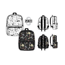 Bioworld Backpack - Disney The Nightmare Before Christmas - Various Characters Black and White Reversible