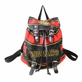 Bioworld Backpack - Harry Potter - Hogwarts Black, Red and Yellow Stripes
