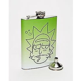 Just Funky Flasque - Rick and Morty - Visage de Rick Verte 8oz