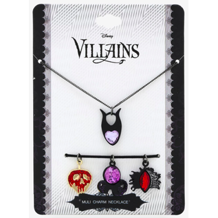Bioworld Collier - Disney Villains - Ensemble de 4 Pendentifs Interchangeables