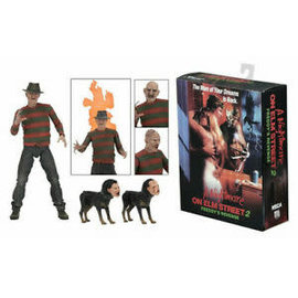 NECA Figurine - A Nightmare on Elm Street 2 Freddy's Revenge - Freddy Krueger Articulated with Interchangeable Parts 7""