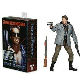 "NECA Figurine - The Terminator- Arnold Schwarzenegger Avec Manteau et Pièces Interchangeable 7"""