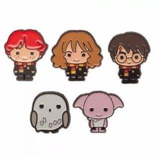 Bioworld Épinglette - Harry Potter - Harry, Ron, Hermione, Dobby et Hedwige Chibi Ensemble de 5