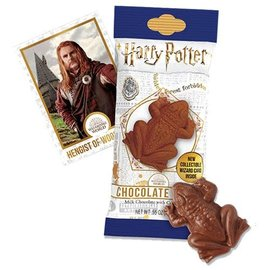 Jelly Belly Candy - Harry Potter - Milk Chocolate Frog with Crisped Rice and Collectible Wizard Card