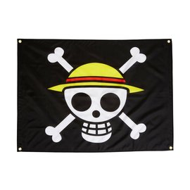 """Great Eastern Entertainment Co. Inc. Flag - One Piece - Luffy Pirate Straw Hat 31.5""""x43"""""""