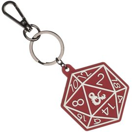 Bioworld Keychain - Dungeons & Dragons - D20 with Ampersand Logo Rubber