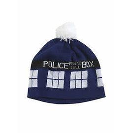 Elope Toque - Doctor Who - Tardis Police Public Call Box with Pom Pom