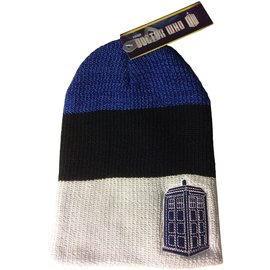 Bioworld Toque - Doctor Who - Tardis Embroidered Tricolor Beanie