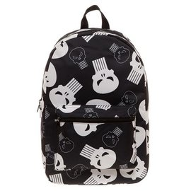 Bioworld Backpack - Marvel The Punisher - Logos Black and White