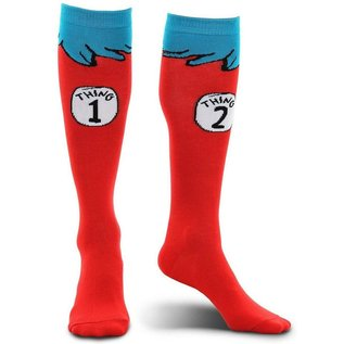 Elope Chaussettes - Dr. Seuss The Cat in the Hat - Thing 1 Thing 2 1 Paire Crew