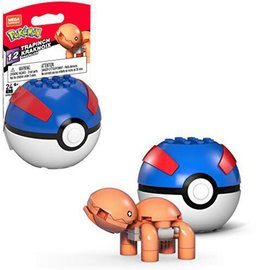 MEGA Brand Figurine - Pokémon - Mega Construx Trapinch avec Great Ball Série 12
