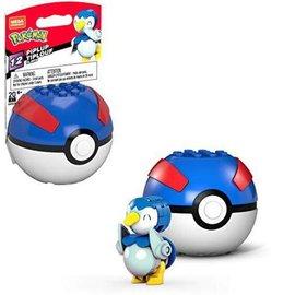 MEGA Brand Figurine - Pokémon - Mega Construx Piplup avec Poké Ball Série 12