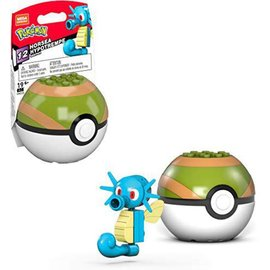 MEGA Brand Figurine - Pokémon - Mega Construx Horsea avec Poké Ball Série 12