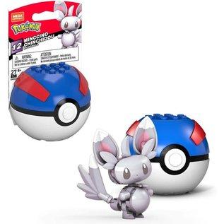 MEGA Brand Figurine - Pokémon - Mega Construx Minccino avec Great Ball Série 12