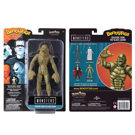 """Noble Collection Figurine - Universal Monsters - Bendyfigs Creature From the Black Lagoon Série 1 7"""""""