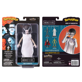 """Noble Collection Figurine - Universal Monsters - Bendyfigs Bride of Frankenstein Série 1 7"""""""