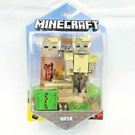 "Mattel Figurine - Minecraft - Husk 3.25"" Avec Application Comic Maker"