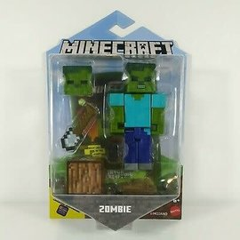 "Mattel Figurine - Minecraft - Zombie 3.25"" Avec Application Comic Maker"