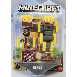 "Mattel Figurine - Minecraft - Blaze 3.25"" avec Application Comic Maker"