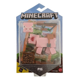 "Mattel Figurine - Minecraft - Cochon 3.25"" Avec Application Comic Maker"