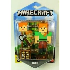"Mattel Figurine - Minecraft - Alex 3.25"" Avec Application Comic Maker"