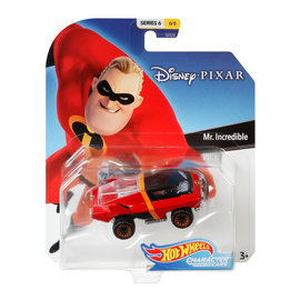 Mattel Toy - Hot Wheels Disney Pixar - Character Cars Mr.Incredible