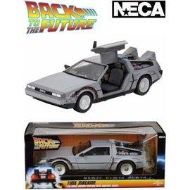 NECA Figurine - Back to the Future - DeLorean Réplique de la Machine a Voyager Dans le Temps Échelle de 1/16 Diecast
