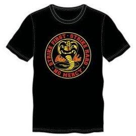 Bioworld T-Shirt - Cobra Kai - Logo Strike First Strike Hard No Mercy Black