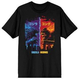 Bioworld Tee-Shirt - Godzilla VS. Kong - Katakana Noir