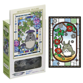 Ensky Studio Casse-tête - Studio Ghibli Mon Voisin Totoro - Art Crystal Vitrail Transparent 126 Pièces