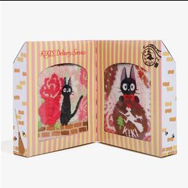 Marushin Serviette - Studio Ghibli Kiki la Petite Sorcière - Jiji Paquet Cadeau Ensemble de 2
