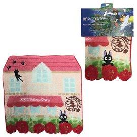 Marushin Serviette - Studio Ghibli Kiki la Petite Sorcière - Jiji, Maison et Fleur