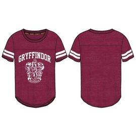 Bioworld T-Shirt - Harry Potter - Gryffindor Crest Athletic Cut Burgundy