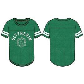 Bioworld T-Shirt - Harry Potter - Slytherin Crest Athletic Cut Green