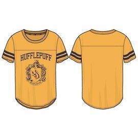 Bioworld Tee-Shirt - Harry Potter - Emblème de Poufsouffle Coupe Athlétique Jaune