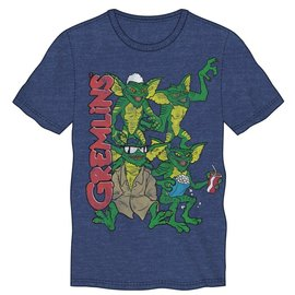 Bioworld T-Shirt - Gremlins - Group Party Navy Blue