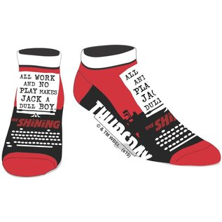 Chaussettes - The Shining - All Work and No Play Noir et Rouge 1 Paire Courtes Chevilles